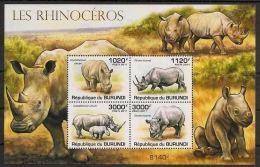 Burundi - 2011 - Bloc BF N°151 - Rhinocéros - Neuf Luxe ** / MNH / Postfrisch - Cote 18€ - Rhinozerosse