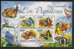 Burundi - 2011 - Bloc BF N°159 - Papillons - Neuf Luxe ** / MNH / Postfrisch - Cote 18€ - Schmetterlinge