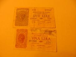 ITALY - ITALIA BANKNOTE   1+2 LIRE - [ 1] …-1946 : Regno
