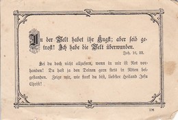 """""""In Der Welt Habet Ihr Ängst..."""" - Gebetszettel - Begräbnisfeier - 1916 (31655) - Religion & Esotérisme"""