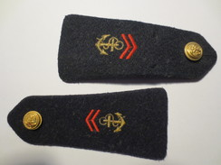 Epaulettes - Armée De Terre - Troupe De Marine Complète - - Equipement
