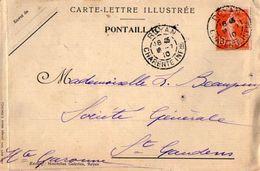 TB 2277 - CLAC - Carte - Lettre Illustrée PONTAILLAC  7 Vues - MP ROYAN Pour SAINT GAUDENS - Marcophilie (Lettres)