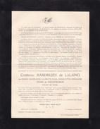BRUXELLES OOSTKAMP MArie PEERS De NIEUWBURGH Comtesse Maximilien De LALAING 1871-1943 - Todesanzeige