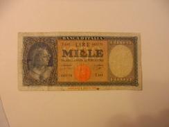 ITALY - ITALIA BANKNOTE  1000 LIRE T449 - [ 2] 1946-… : Repubblica