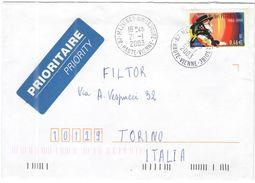 FRANCIA - France - 2003 - 0,46 € Michel Petrucciani - Seul - Prioritaire - Viaggiata Da Mézières-sur-Issoire Per Torino - Storia Postale