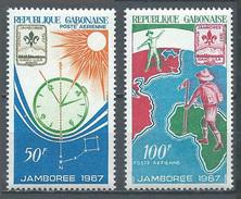 Gabon Poste Aérienne YT N°58/59 Jamborée Mondial D'Idaho 1967 Scoutisme Neuf ** - Gabon (1960-...)