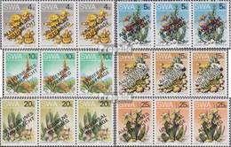 Namibia - Südwestafrika Mi.-Nr.: 452I-III-457I-III Dreierstreifen (kompl.Ausg.) Gestempelt 1978 Wahlrecht - Afrique Du Sud-Ouest (1923-1990)