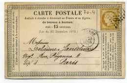 Carte Précurseur CPO :  T17 SISTERON / Dept  5  Basses Alpes  / 1874 - 1849-1876: Classic Period