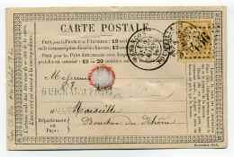 Carte Précurseur CPO :  T18 BESANCON + Losange GC456 / Dept  24 Doubs   / 1876 - 1849-1876: Classic Period
