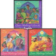 Kokos-Inseln 343-345 (kompl.Ausg.) Postfrisch 1996 Hari-Raya - Kokosinseln (Keeling Islands)