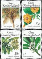 Kokos-Inseln 205-208 (kompl.Ausg.) Postfrisch 1989 Pflanzen - Kokosinseln (Keeling Islands)