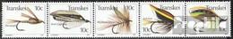 Südafrika - Transkei 83-87 Fünferstreifen (kompl.Ausg.) Postfrisch 1981 Angelhaken - Transkei