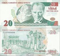 Türkei Pick-Nr: 219 Bankfrisch 2005 20 New Lira - Turkije
