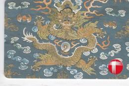 Hong Kong, R6-02, Tapestries (6th Series): Dragon, 2 Scans. - Hong Kong