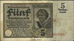 Deutsches Reich Rosenbg: 164a, KN 7stellig Stark Gebraucht (IV) 1926 5 Rentenmark - [ 3] 1918-1933 : Weimar Republic