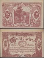 Waldburg Notgeld Der Gemeinde Waldburg Bankfrisch 1920 10 Heller - Oesterreich
