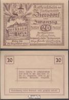 Ziersdorf Notgeld Der Marktgemeinde Ziersdorf Bankfrisch 1920 20 Heller - Oesterreich