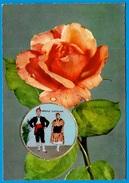 """CPSM CPM Carte Parfumée """"Vallazur"""" 06 GRASSE Parfum Rose De Fragonard (couple Catalan En Médaillon) - Grasse"""