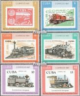 Kuba 3142A-3147A (kompl.Ausg.) Postfrisch 1987 Eisenbahn In Cuba - Cuba
