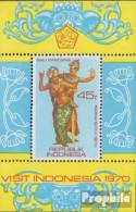 Indonesien Block16 (kompl.Ausg.) Postfrisch 1970 Tourismus - Indonesia