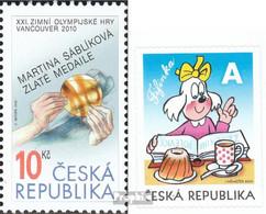 Tschechien 625,629 (kompl.Ausg.) Postfrisch 2010 Olympia, Hund - Tschechische Republik