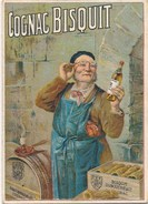 Petit Calendrier Format Déplié 13,5 X 9,5 Cm  Cognac Bisquit  ( Alcool ) Année 1936 - Calendars