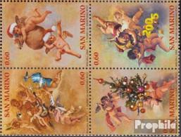 San Marino 2178-2181 Viererblock (kompl.Ausg.) Postfrisch 2004 Weihnachten - Neufs