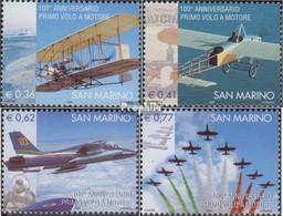 San Marino 2097-2100 (kompl.Ausg.) Postfrisch 2003 Flugzeuge - Unused Stamps