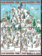 San Marino 1700-1703 Viererblock (kompl.Ausg.) Postfrisch 1997 Alpine Ski-WM - Neufs