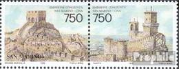 San Marino 1652-1653 Paar (kompl.Ausg.) Postfrisch 1996 Diplomatische Beziehungen - Unused Stamps
