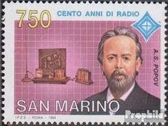 San Marino 1569 (kompl.Ausg.) Postfrisch 1994 100Jahre Radio - Neufs