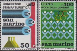 San Marino 1027,1028 (kompl.Ausg.) Postfrisch 1973 Presse, Sport - Ungebraucht