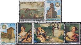 San Marino 954,957-958,959-961 Dreierstreifen (kompl.Ausg.) Postfrisch 1970 Europa, Rotary, Tiepolo - Ungebraucht