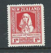 New Zealand 1929 Health Charity ' Tuberculosis ' 1d MLH - Unclassified