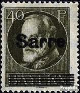 Saarland 24 Gestempelt 1920 Bayern Mit Aufdruck - 1920-35 Saargebiet – Abstimmungsgebiet
