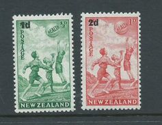 New Zealand 1939 Health Charity Issue Surcharge Set Of 2 MNH - Unclassified