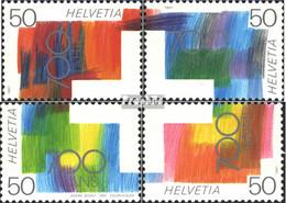Schweiz 1438-1441 (kompl.Ausg.) Postfrisch 1991 700 Jahre Eidgenossenschaft - Ungebraucht