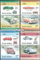 Tuvalu-Niutao 1-8 Paare (kompl.Ausg.) Postfrisch 1984 Autos - Tuvalu