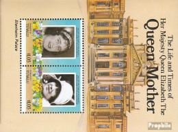 Tuvalu-Funafuti Block1 (kompl.Ausg.) Postfrisch 1985 Königinmutter Elisabeth - Tuvalu