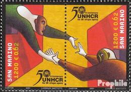 San Marino 1974-1975 Paar (kompl.Ausg.) Postfrisch 2001 50Jahre UNHCR - Neufs