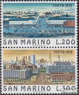 San Marino 1097-1098 Paar (kompl.Ausg.) Postfrisch 1975 Weltstädte - Neufs