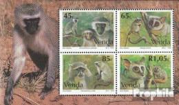 Südafrika - Venda Block12 (kompl.Ausg.) Postfrisch 1994 Affen - Venda