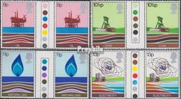 Großbritannien 756-759 Zwischenstegpaare (kompl.Ausg.) Postfrisch 1978 Energie - 1952-.... (Elizabeth II)