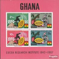Ghana Block30 (kompl.Ausg.) Postfrisch 1968 Kakao - Ghana (1957-...)