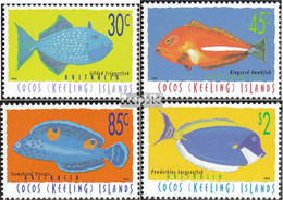 Kokos-Inseln 350-353 (kompl.Ausg.) Postfrisch 1996 Fische - Kokosinseln (Keeling Islands)