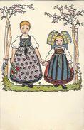 1080 CPA Enfants Alsace En Costume Folklorique (Costume - Folklore) - Costumes