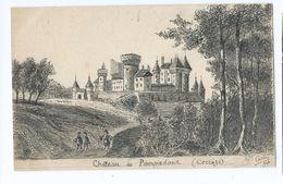 3001 Château De Pompadour Arnac Epreuve ? Essai ? Signé B.Y. Carles Carle à L'encre De Chine ? - Arnac Pompadour