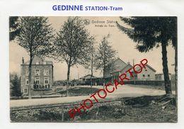 GEDINNE STATION-TRAM-Gare-Train-Periode Guerre 14-18-1 WK-Belgien-Feldpost- - Gedinne