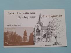 Tiende Internationale Ruildag Voor Prentkaarten () AALST - Anno 1984 ( Zie Foto Details ) ! - Bourses & Salons De Collections