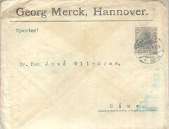 LETTER 1906  HANNOVER REUS - Cartas